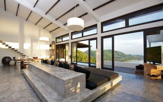 woonbeton leent zich ook voor energiezuinige vloerverlichting